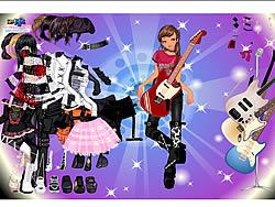 เล่นเกมฟรี Rock Girl Dress Up