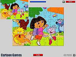 Juega al juego gratis Dora Cartoon Jigsaw