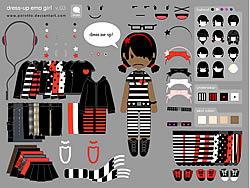 Little Emo Girl Dress Up game