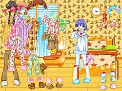 Играть бесплатно в игру Pajama Dressup