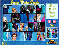Frozen Winter Puzzle game