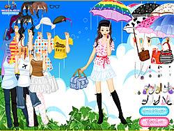 Gioca gratuitamente a Rainy Days Dress Up
