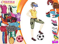 Sporty Girl Dressup game
