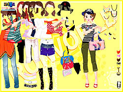 Yellow Casual Dress Up game