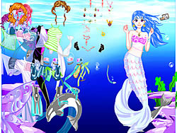 Sea Girl Dressup game