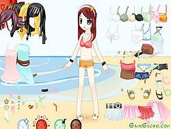 Beach Doll Dressup game