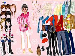 Pink Flower Dress Up game